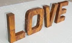 木纹烤漆背发光字制作